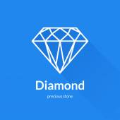 Geometric faceted diamond shape logo