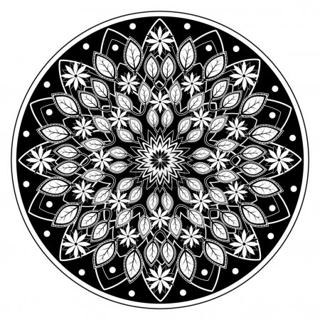 Mandala pattern for an adult coloring book