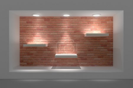Storefront with lighting