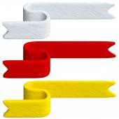Barevné pásky z Plastelíny nebo jílu stylu