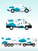 Template vehicle for advertising branding or business