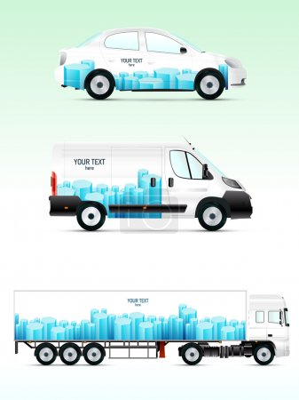 Template vehicle for advertising, branding or business