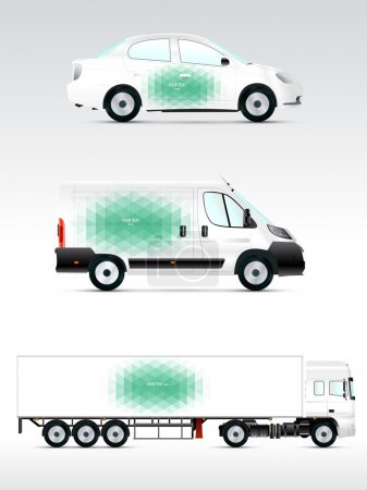 Emplate vehicle for advertising