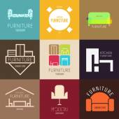 Logo badge or label inspiration with furniture