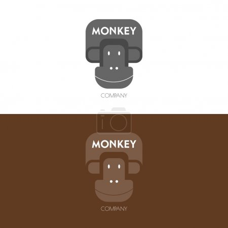 Logo inspiration with monkey.