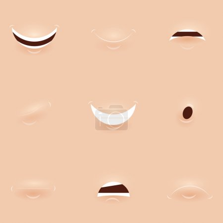 Set of mouths cartoon. For character or other inspiration