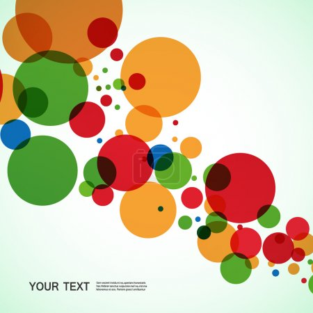 Vector background design of large colored balls