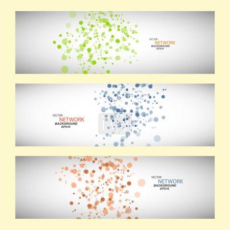 Illustration pour Connexion réseau couleur vectorielle et atome d'ADN . - image libre de droit