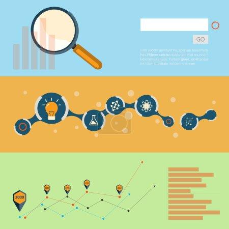 Illustration pour Ensemble de concepts de design plat pour web et impression. - image libre de droit