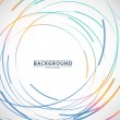 Vector abstract color line and circle background....