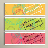 Vector banner color line Circle design eps