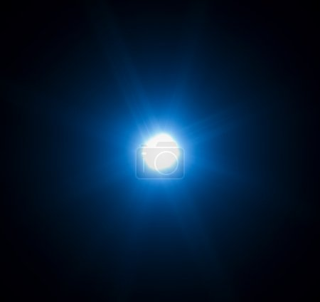 Photo for 60mm lens flare on black background - Royalty Free Image