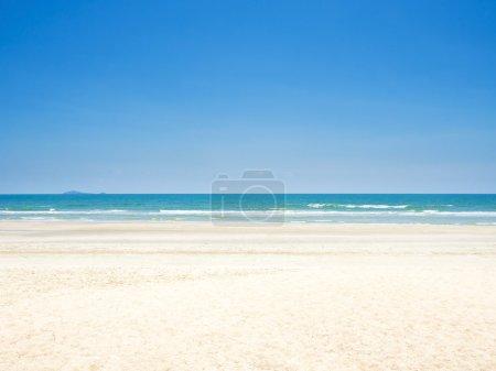 beautiful sand beach on the sea shore