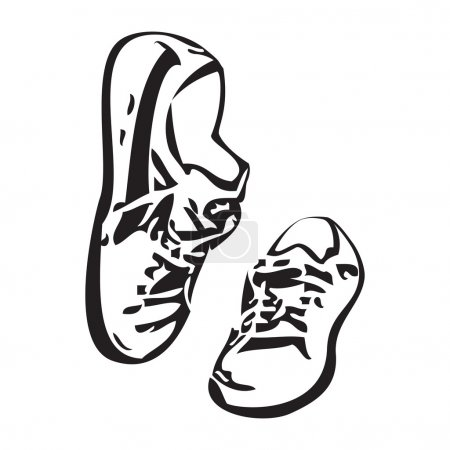Sneakers shoes vector sketch drawing illustration