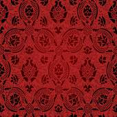 Red and black Seamless abstract floral pattern