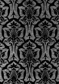 Abstract hand-drawn floral seamless pattern vintage background