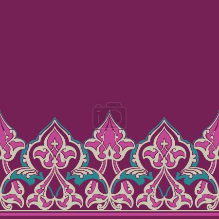 Vector ornate seamless border in Eastern style.