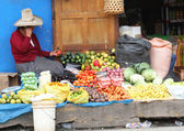 Sierra Woman Selling Vegetables on the Street