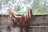 Antique Hand-crafted Horse Saddle from Peru