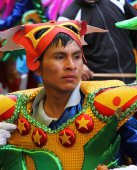 Handsome Peruvian Man in Costume in Carnival Parade