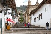 City Steps and Traditional Buildings