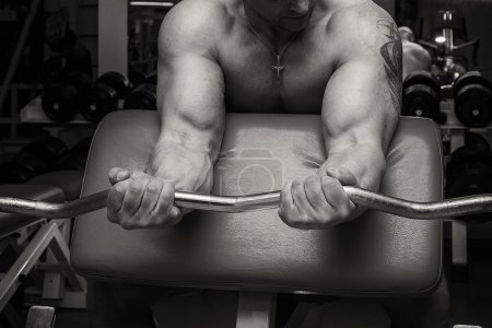 Man at gym.