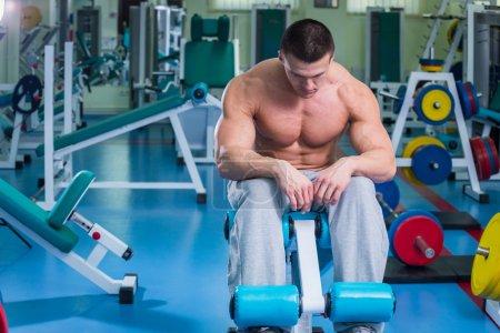 Sad Man in gym