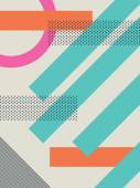 Abstract retro 80s background with geometric shapes and pattern Material design wallpaper