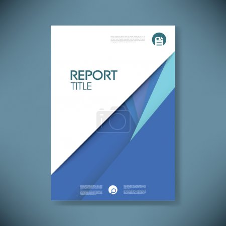 Annual report cover template on material design style vector background.