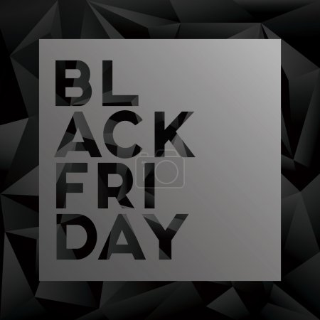Black friday sale vector illustration with low poly background and strong creative typography for sales promotion, advertising discounts.