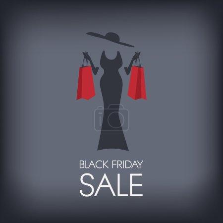 Black Friday shopping poster or flyer. Eps10 vector illustration.