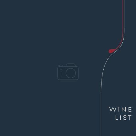 Illustration pour Fond de la carte des vins. Modèle de menu alcool. Boissons et vecteur de boissons. Illustration vectorielle Eps10 - image libre de droit