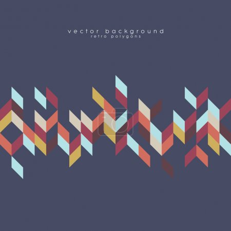 Bohemian style pattern vector background texture. Geometric polygonal vintage shapes.