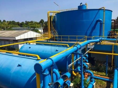 Photo pour Usines de traitement de l'eau de l'aqueduc en Thaïlande. - image libre de droit