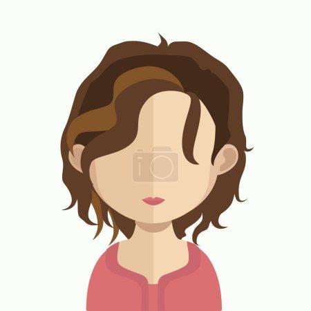 Illustration for Vector illustration of female avatar - Royalty Free Image