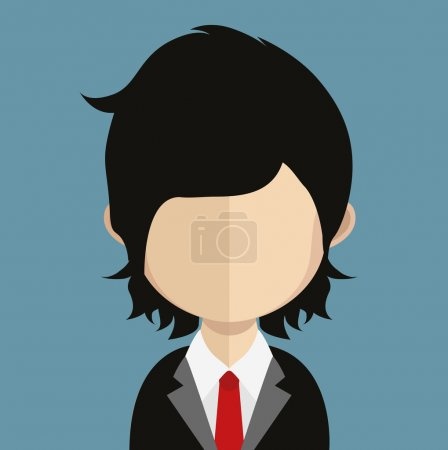 Illustration for Male Avatar icon  illustration - Royalty Free Image
