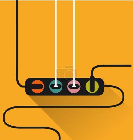 Illustration pour Icône de prise de courant dans un style minimal - image libre de droit
