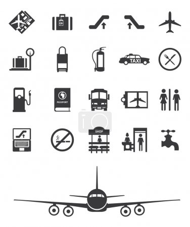 travel airport icons