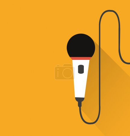 Microphone icon (long shadow)