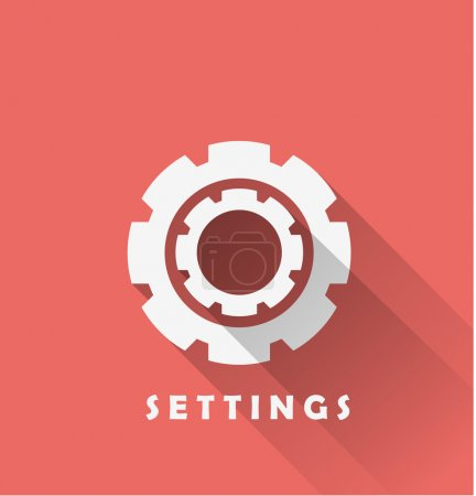 Illustration for Settings, gear, cogwheels Icon. vector illustration - Royalty Free Image