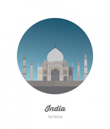 Taj Mahal in India icon