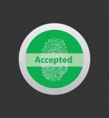 fingerprint reader with accepted symbol