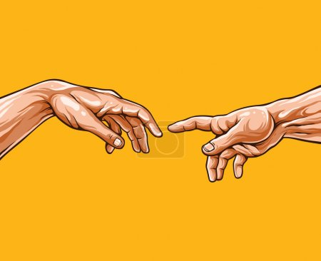 Adam hands. Vector illustration