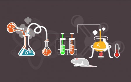 Photo for Vector flat chemistry infographic illustration - Royalty Free Image