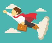 Super businessman Vector flat illustration