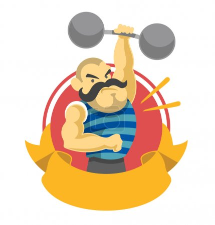 Circus athlete. Vector flat illustration...