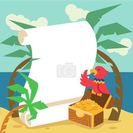 Pirate gold. Vector flat illustration...