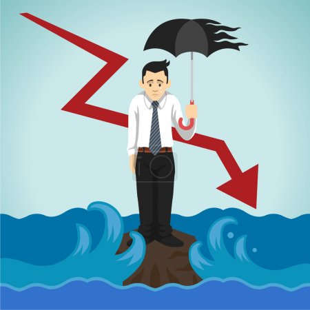 Vector loser businessman illustration