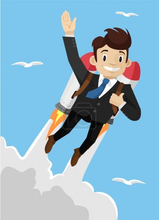Super businessman. Vector illustration