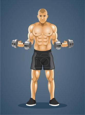 Bodybuilder. Vector illustration